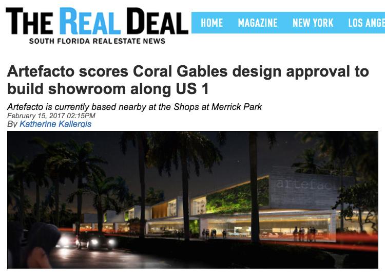 Artefacto DOMO Architecture + Design Showroom US-1 Coral Gables