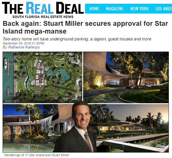 Stuart Miller secures approval for Star Island DOMO Architecture mega-manse