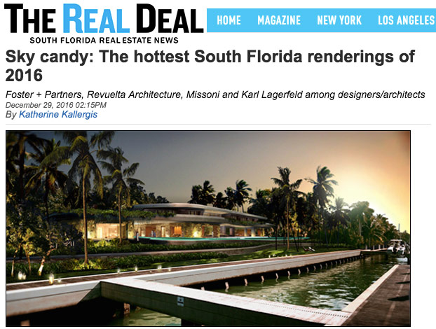 DOMO Architecture Rendering in The Real Deal Miami